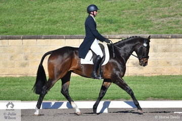 Simon Tainsh and the Thoroughbred, Punching In A Dream hold sixth place after the dressage phase of the Bates Saddles CCN4*-S.