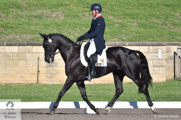 The well performed combination of Tim Boland and Napoleon came out late in the day to snatch the lead in the dressage phase of the Bates Saddles CCI4*-S by the slimiest margin, of 0.10 with a score of 29.10.