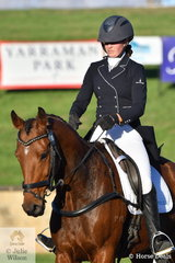 Sophia Landy from Victoria rode her cute Thoroughbred, Humble Glory in the Bates Saddles CCI4*-S.