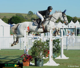 Winner of the 1.30m Young Rider class on the second day of competition was Courtney Tincknell and Screwdriver