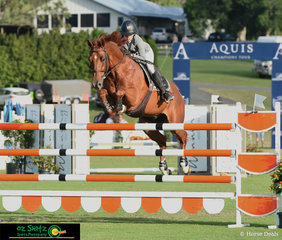 Definately on fire for the first weekend of competition, Katie Laurie rode Cera Caruso around the extremely challenging 1.40m track that saw only 6 clear rounds from 76 starters, to win the class