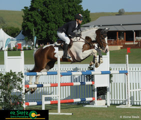Tim Amitrano took the beautiful coloured mare Alba De L'Yser Z around the 4Cyte sponsored 1.20m Less that 40 Points Two Phase class on the final day of competition