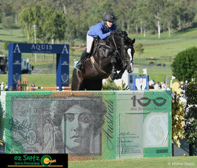 Former Western Australian, Maddi Stephens rode the spectacular gelding Black Currency around the tough Mini Prix track