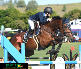 Taking the ride on her mum's horse, Olivia Hamood rode Lady Jane GHP to absolute perfection in the Mini Prix on Sunday, coming away in top place from a field of 89 competitors.