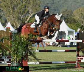 Courtney Tincknell and Second Chance were the third combination to enter the arena for the Young Rider Championship on the final day of Week 1 of the Aquis Champions Tour