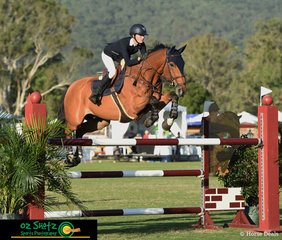 Final class of a huge weekend of jumping was the Young Rider - Jess Rice-Ward makes her way around riding Dusky Farm Cavalier