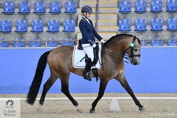Victoria Davies rode the delightful stallion, Celere to win the Para-Equestrian CPEDI Grade II Freestyle Test.