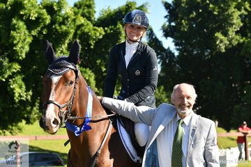 Co Young Horse judge Wayne Roycroft was pleased to award first place to Tanya Schmidt and her Warmblood APH Alpine in the Four Year Old division of the Yarramin Park 2019 Australian Young Event Horse Championship.