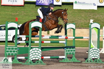 Sophia Landy and her Thoroughbred Humble Glory moved from 22nd to 6th place after excellent cross country and showumping results in the Bates Saddles CCI4*-S.