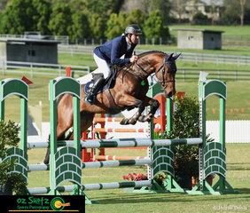Making his first appearance at the 2019 Aquis Champions Tour and coming in straight from Sydney Royal, was James Arkins riding the lovely 4 Year Old stallion Kitara Taittinger