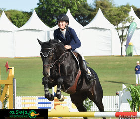 Sally Simmonds rode the lovely young Bella Du Rouet around the NZPH sponsored 4 Year Old class