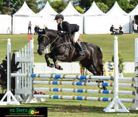 Another spectacular young 4 Year Old to grace the arena for the Young Horse classes was TM For Your Eyes Only ridden by Stephanie McKillop