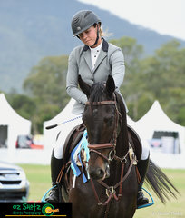 Placing second in the six year old Throughbred class was Liz Hoy and her gelding Where's Cameron