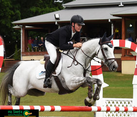 Stepping into the main arena of the 2019 AQUIS Champions Tour to compete in the first qualifier of the Young Rider was Cameron Moffat and he rode Dolly Varden.