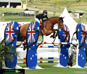 Jess Rice-Ward and Dusky Farm Cavalier came away in top spot for the 1st Qualifier of the Young Rider Tour at the AQUIS Champions Tour