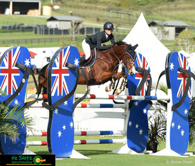 Jamie Priestley and Kolora Stud Optimus made a great combination in the Young Rider First Qualifier on day two of the second week.