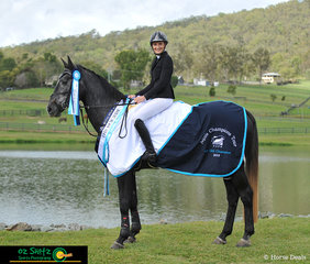 Champion 4 Year Old at the 2019 AQUIS Champions Tour went to Cil Dara Deniro ridden by Elizma English.
