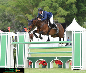 Horse and rider combination, Andrew Lamb and Spartava compete in the hotly contested Bronze Tour.