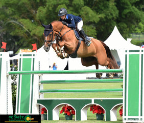 Sundance GHP knows how to pick up those knees, ridden by Olivia Hamood in the Bronze Tour 1st Qualifier.
