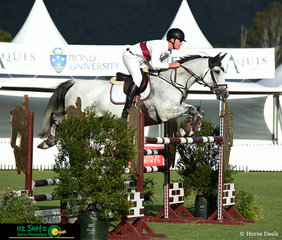 Representing Queensland in the Young Rider Teams Challenge was Cameron Moffatt on Dolly Varden.