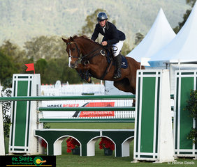 Competing in the main arena in the Young Rider 2nd Qualifier was Finn Beasy and Captain Lightning Bolt.