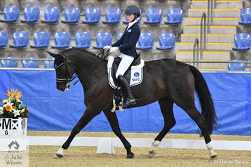 Kaitlin Martin rode Divina to seventh place in the Flexible Fit Australia Junior Team CDI-J.