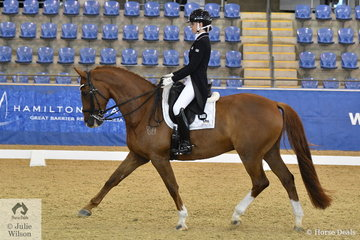 Lucy Alati  rode CJP His Lordship to second place in the Flexible Fit Australia Junior Team CDI-J.