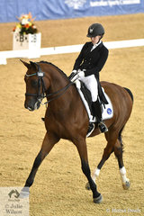 Lindsay Ware from Victoria rode Aristede to win the Agnes Banks Equine Clinic FEI Young Rider Team Test with a score of 70.14%.