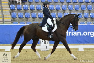 Serena Ireland rode Jazzsong to ninth place in the Agnes Banks Equine Clinic FEI Young Rider Team Test.