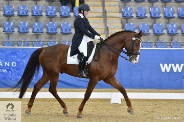 Sarah Farraway riding MW Rotssong placed fourth in the Agnes Banks Equine Clinic FEI Young Rider Team Test.