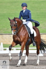 Katrina Smith rode her Jive Majic gelding, Just Dance to seventh place in the Bockmann Horse Trucks FEI Prix St Georges CDI 3*.
