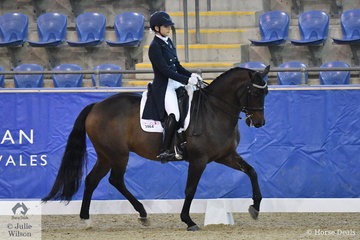 Rosanna Relton rode Four Winds Bombadier to second place in the Mulawa Performance FEI U25 Inter. II.