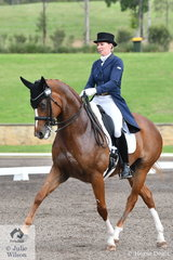 Melissa Van den Berge from Queensland rode Cheryl O'Brien's, Remi Lady Locksley in the hotly contested Bockmann Horse Trucks FEI Prix St Georges CDI 3*.