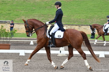 Talented young rider, Riley Alexander rode Julie Farrell's, MI Sirtainly Sir to second place scoring 70.52% in the Bockmann Horse Trucks FEI Prix St Georges CDI 3*. Riley also won the Hygain FEI Inter A CDN riding Jane Farrell's, Larenso.