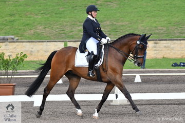 Robyne Smith rode her own Gwandalan Luca to 12th place in the Bockmann Horse Trucks FEI Prix St Georges CDI 3*.