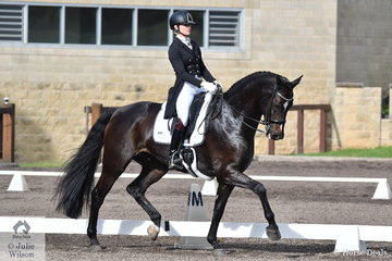 Danielle Keogh rode her own Welfadon in the Bockmann Horse Trucks FEI Prix St Georges CDI 3*.