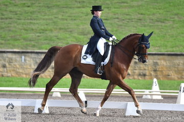 Emily James rode her own PR Firenz to sixth place in the Bockmann Horse Trucks FEI Prix St Georges CDI 3*.