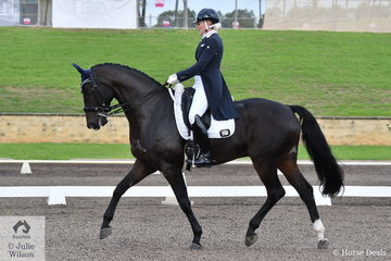 Jenny Gehrke rode the imported Senator Nymphenburg to fifth place in the Bockmann Horse Trucks FEI Prix St Georges CDI 3*.