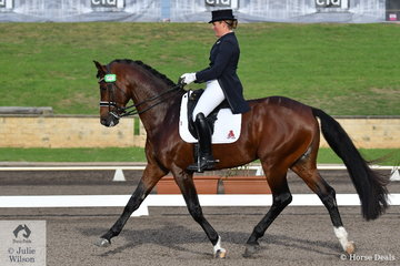Sheridyn Ashwood rode her stallion, Ashwoods Chocolate Fondue to 10th place in the Bockmann Horse Trucks FEI Prix St Georges CDI 3*.