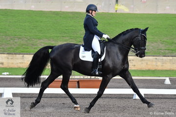 Christine Weal from New Zealand rode Schindlers List to fourth place in the Bockmann Horse Trucks FEI Prix St Georges CDI 3*.