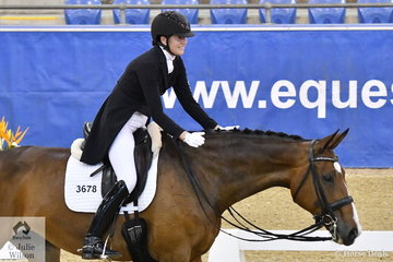 Fiona Selby was pleased with her imported Tacita that took second place in the Otto Sport Australia FEI Grand Prix CDI3*.