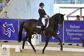 Maree Tomkinson judged the best show hacks in the country at the recent Sydney Royal Show. Today she rode her imported mare, DJM Donna Elena in the Otto Sport Australia FEI Grand Prix CDI3*.