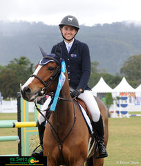 Lucy Evans and Glenara Vintage Balou had great success in the 1.10m Intermediate 1st Qualifier coming away in top spot