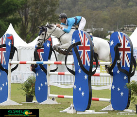 Elliot Reeves and Aveden Indigo posted a fabulous double clear round in the 1.50m Teams Event and finished in second place to Gabrielle Kuna and Flaire