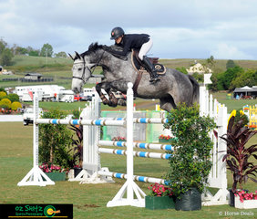On one of her many horses over the past 2 weeks of competition was Katie Laurie in the Bronze Tour 2nd Qualifier on her horse Champagne NZPH