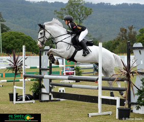 Showing great form in the GeoPro Footing 90cm class, Zali Young and Alta Ego, competing on the eighth day of the 2019 AQUIS Champions Tour, held at Elysian Fields, Queensland.