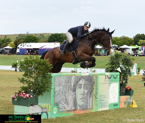 With the famous $100 AQUIS jump underneath her, Gemma Creighton on Happy Talk placed 7th with a competitive time of 60.873 seconds in a very close competition during the Rising Stars 1.20-1.25m Championship.