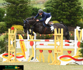 With a time of 53.706 tied for second in the jump off, James Arkins came a competitive 3rd place after count back riding his horse Glenhill Bounce in the Rising Stars 1.20-1.25m Championship at the AQUIS Champions Tour 2019