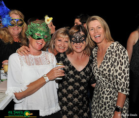 Katy Penman, Alison Ford, Nicole Willett and Carly Overton looking amazing at the Masquerade Cocktail night at the AQUIS Champions Tour