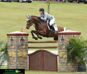Competing in the Young Rider Tour Final on day eight of the AQUIS Champions Tour is Erin Buswell and Quero Quero jumping the Stal Tops fence. Stal Tops Stables have again sponsored the Young Rider Series throughout Australia